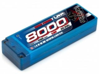 LRP 8000 - Stickpack - 110C/55C - 7.6V LiPo - 1/10 Outlaw Car Line Hardcase