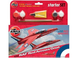 Starter Set letadlo Red Arrows Gnat 1:72