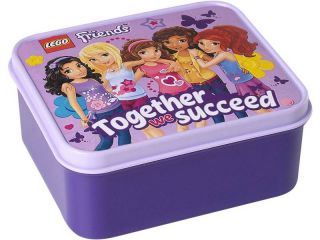 LEGO Friends box na svačinu 160x141x66mm - levandulový