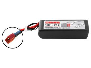 Team Orion LiPol 5300mAh 6S 22.2V 50C Deans LED
