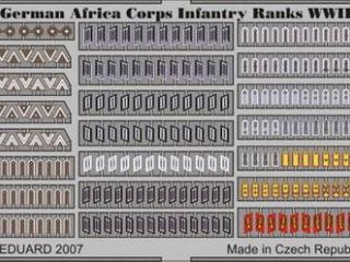 German Africa Corps inf.Ranks WWII