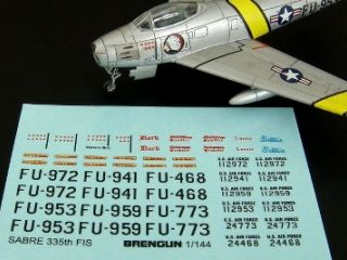 F-86F Sabre 335th FIS Decal