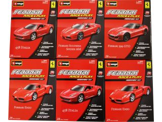 Bburago 1:32 Auta Ferrari Race & Play Kit sada 6ks