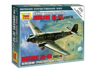 Zvezda Easy Kit Junkers Ju-52 Transport Plane (1:200)