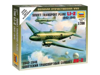 Zvezda Easy Kit LI-2 Soviet Transport Plane (1:200)