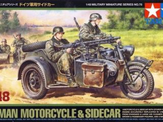 German bike & sidecar 1/48