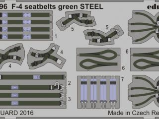 F-4 seatbelts green STEEL