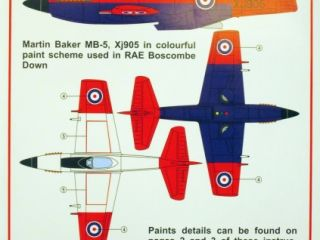 Martin Baker M.B.5 Boscombe Down decal