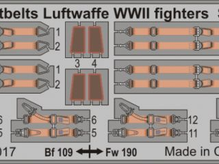 Seatbelts Luftwaffe WWII fighters STEEL