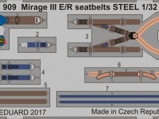 Mirage III E/R seatbelts STEEL