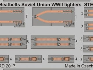 Seatbelts Soviet fighters WWII STEEL