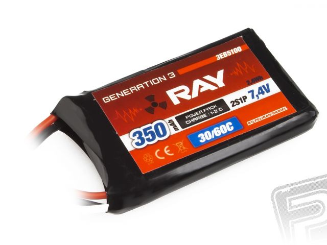 G3 RAY Li-Pol 350mAh/7,4 30/60C Air pack 2,6Wh