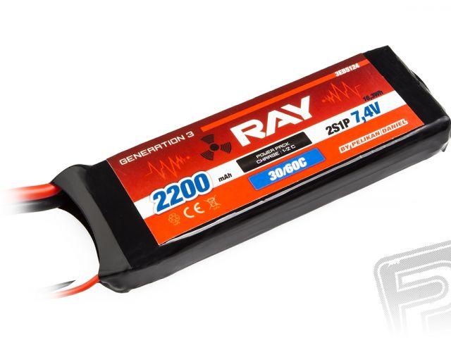 G3 - LC RAY Li-Pol 2200mAh/7,4 30/60C Air pack 16,3Wh